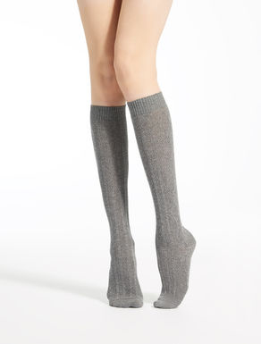 Cashmere and viscose knee-high socks