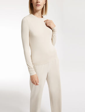 Stretch viscose sweater