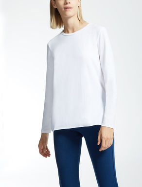 Stretch cotton sweater