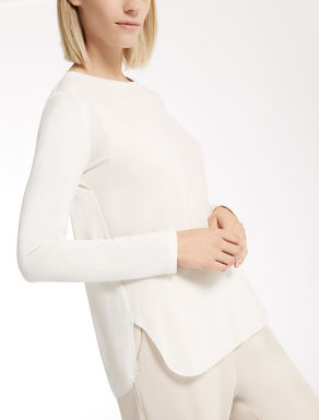 Crêpe de chine sweater