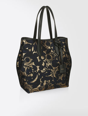 Jacquard fabric shopper bag