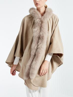 Manteau cape en cachemire
