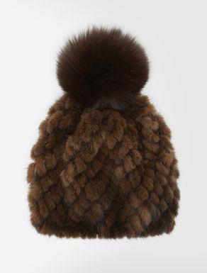 Hut aus Nerzpelz und Fuchspelz