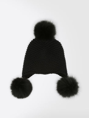Wool and fox fur hat