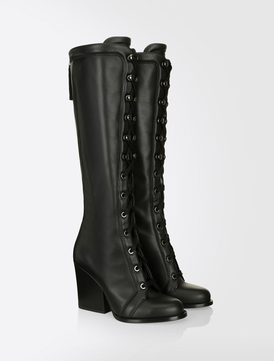 leather lace up boots black quot kansas quot max mara