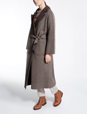 Reversible wool coat