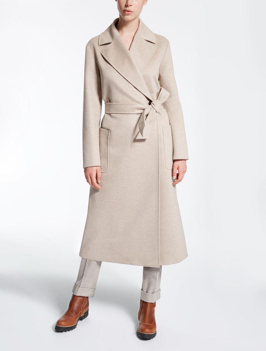 pure cashmere coat sand nostoc max mara. Black Bedroom Furniture Sets. Home Design Ideas