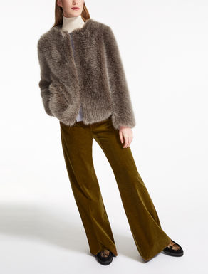 Fur-effect jacket