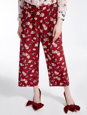 Pantaloni in crêpe de Chine di seta
