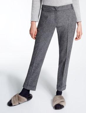 Pantaloni in misto lana