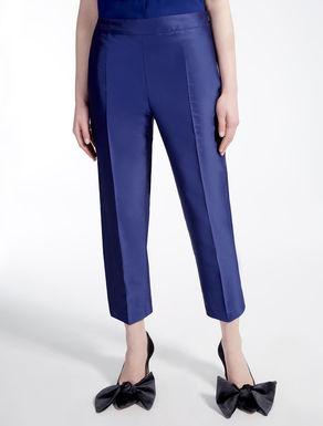 Pantaloni in tessuto lucido
