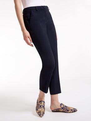 Pantaloni in viscosa e lana