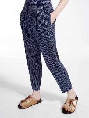 Pantaloni in tessuto sablé