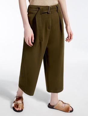 Pantaloni in twill di cotone