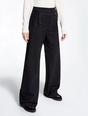 Pantaloni in gabardina di lana