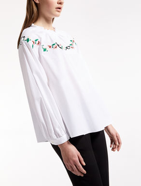 Cotton poplin blouse