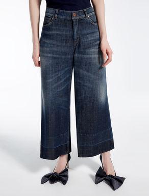 Jeans in denim di cotone