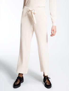 Pantaloni in filato di lana