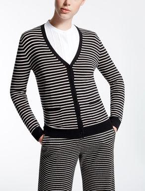 Cardigan in seta e lana