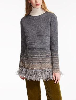 Maglia in lana e piume