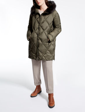 Drop-proof canvas down jacket