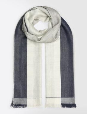 Alpaca and silk scarf