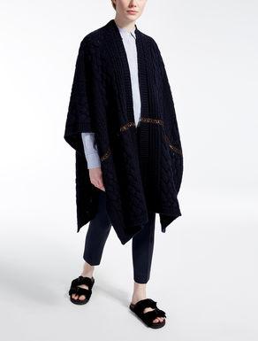 Poncho in misto lana