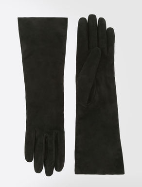 Suede leather gloves