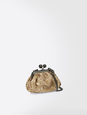 Pasticcino Bag Nano in tessuto broccato