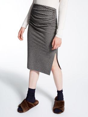 フランネル ジャカードジャージー スカート