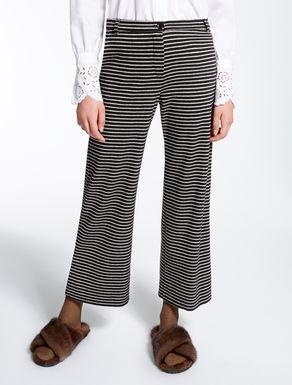 Pantaloni in jersey jacquard
