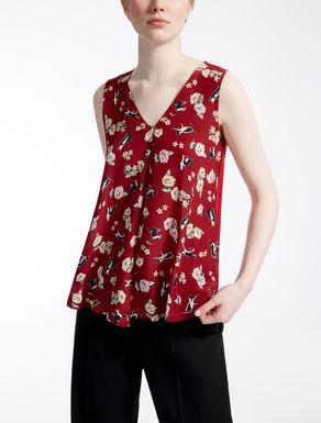 Top in crêpe de Chine e jersey