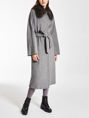 Abrigo de lana, seda y angora