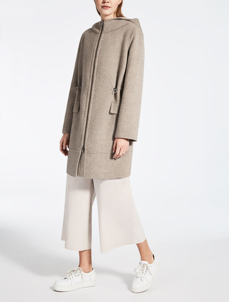 Wool and cashmere parka