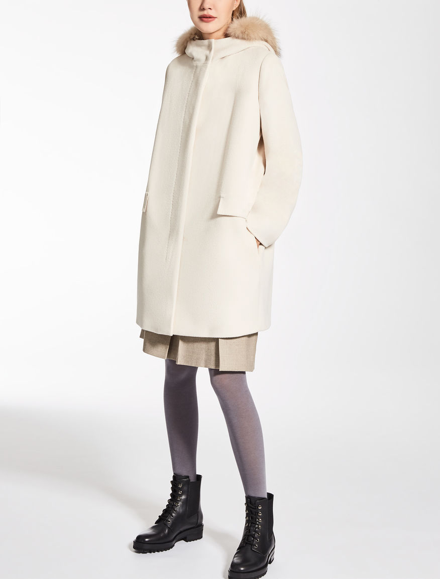 Wool, silk and angora parka