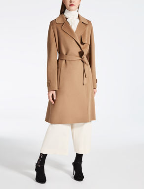 Wool, cashmere and silk trench coat