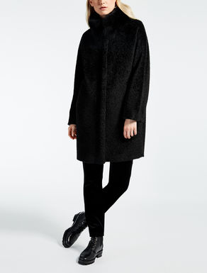 Alpaca and wool jacket