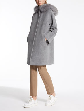 Wool and angora parka