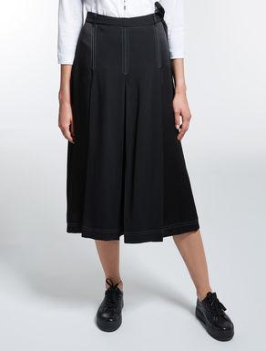 バックサテンキュロット スカート