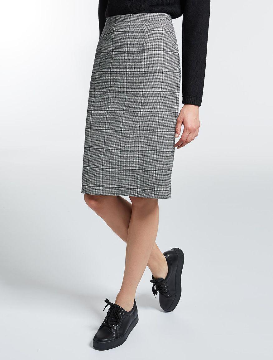 ウール フランネルタイト スカート