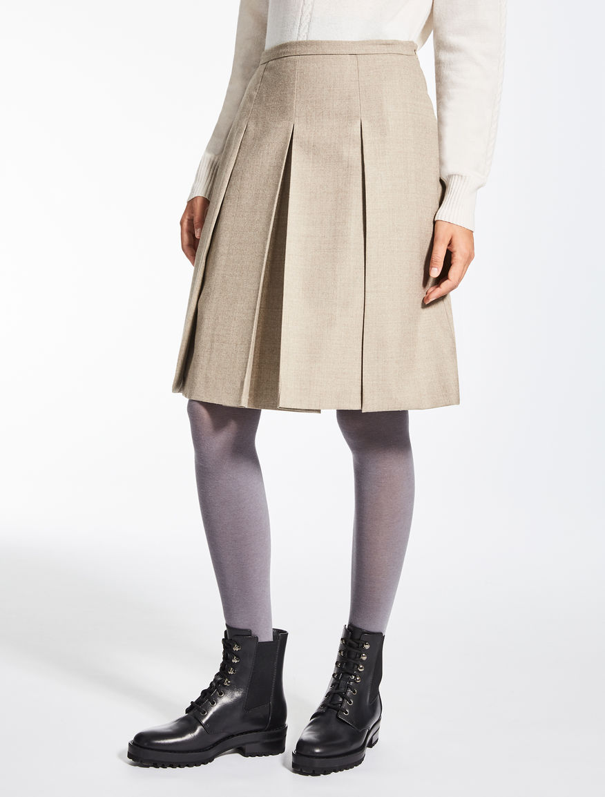 Wool flannel skirt
