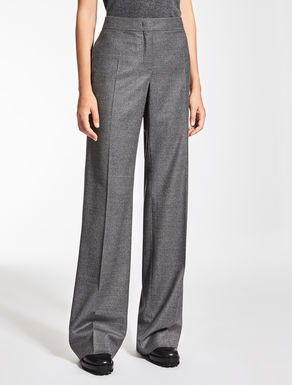Wool flannel trousers
