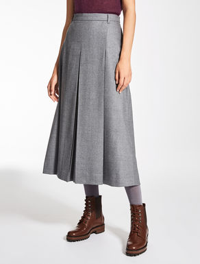 Jupe-culotte en flanelle de laine