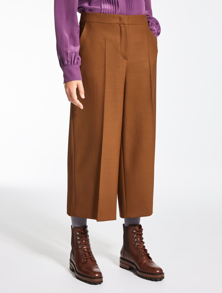 Wool canvas trousers
