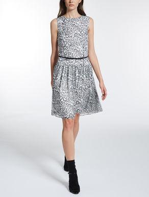 シルク クレポンプリント ドレス