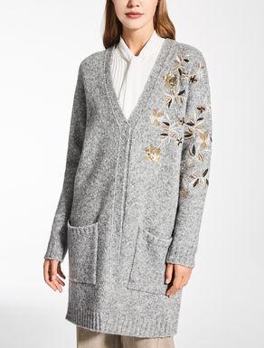 Cardigan in lana e alpaca