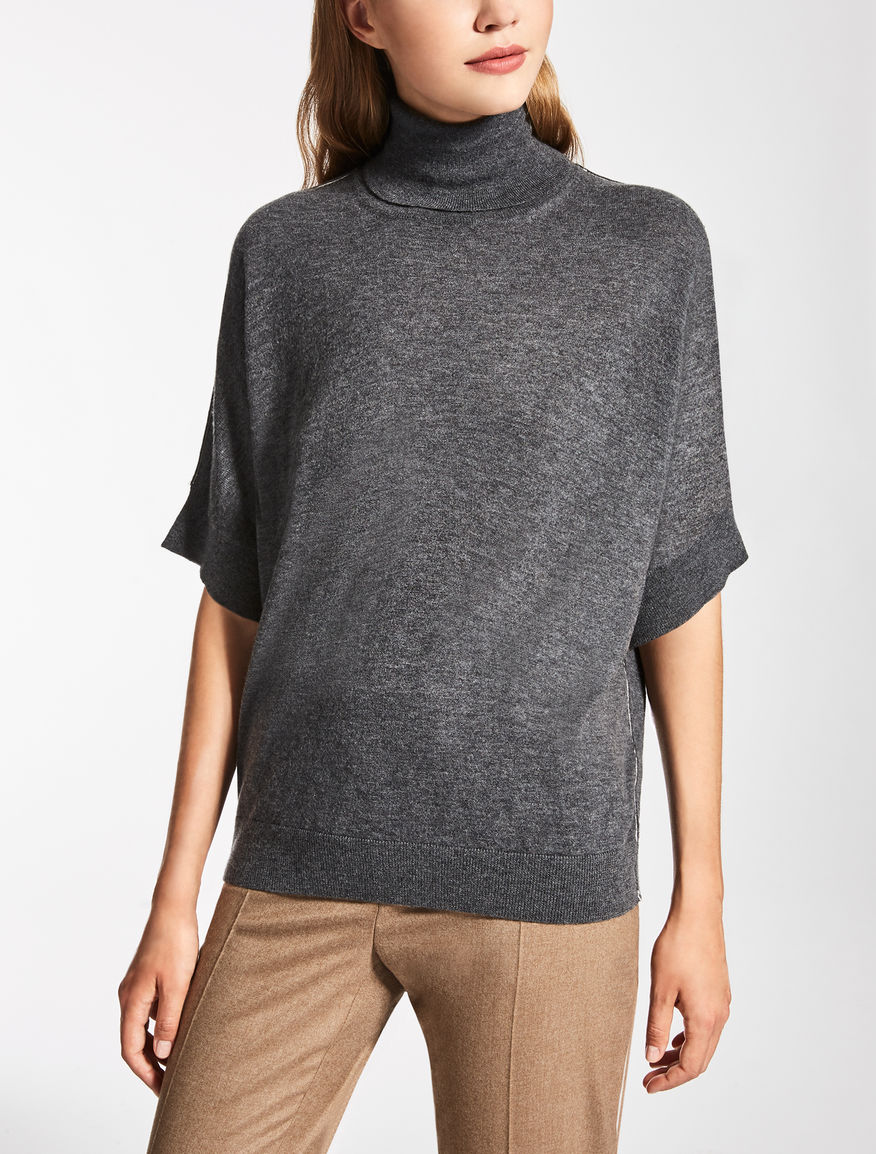Cashmere and wool polo sweater