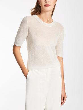 Mohair gauze sweater