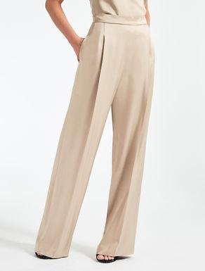 Pantaloni in envers satin