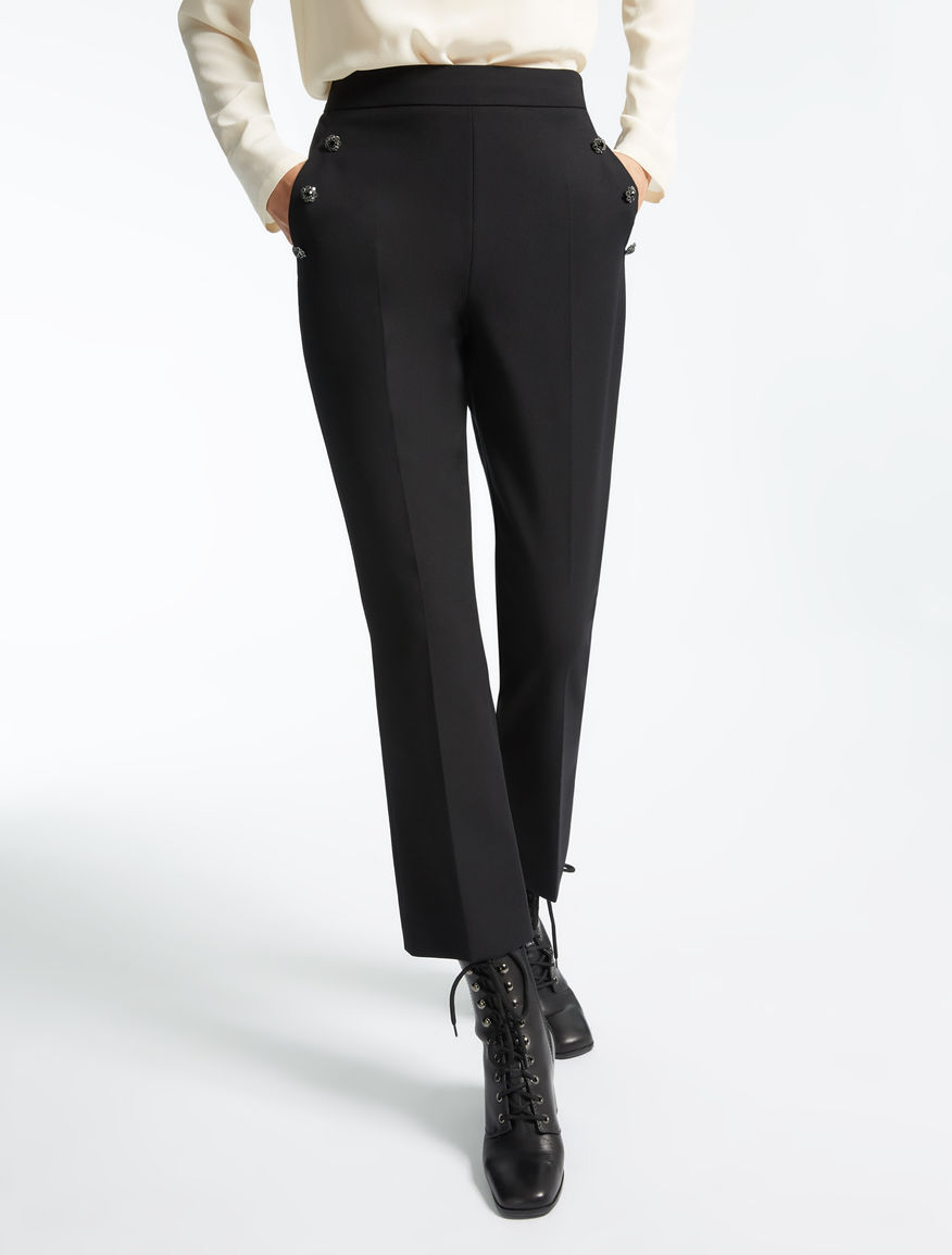 Trousers in stretch gabardine